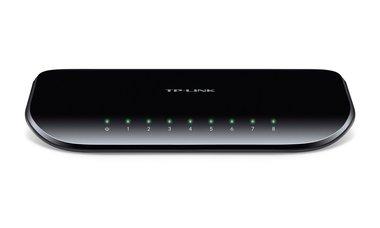 TP-LINK TL-SG1008D netwerk-switch Unmanaged Gigabit Ethernet (10/100/1000) Zwart