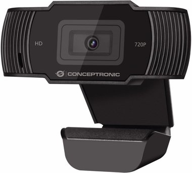 Conceptronic AMDIS 720P HD webcam 1280 x 720 Pixels USB 2.0 Zwart