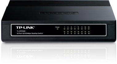 TP-LINK TL-SF1016DS netwerk-switch Fast Ethernet (10/100) Zwart