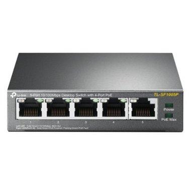 TP-LINK TL-SF1005P Unmanaged Fast Ethernet (10/100) Power over Ethernet (PoE) Zwart