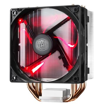 Cooler Master Hyper 212 LED Processor Koeler 12 cm Zwart, Metallic, Rood