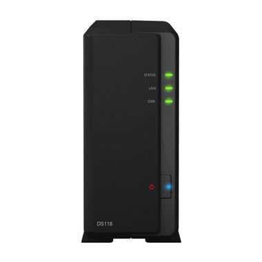 Synology DiskStation DS118 data-opslag-server Ethernet LAN Compact Zwart NAS